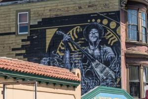 San Francisco Jimi Hendrix's house