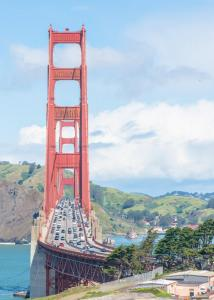 Golden gate bridge San Francisco from the city view