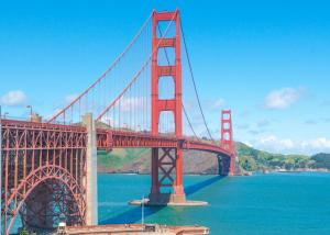 Golden gate bridge San Francisco right side landscape