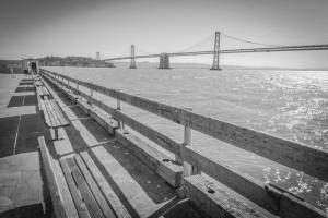 San Francisko Peers and Oakland bridge