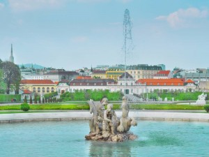 belvedere-Vienna-fontains